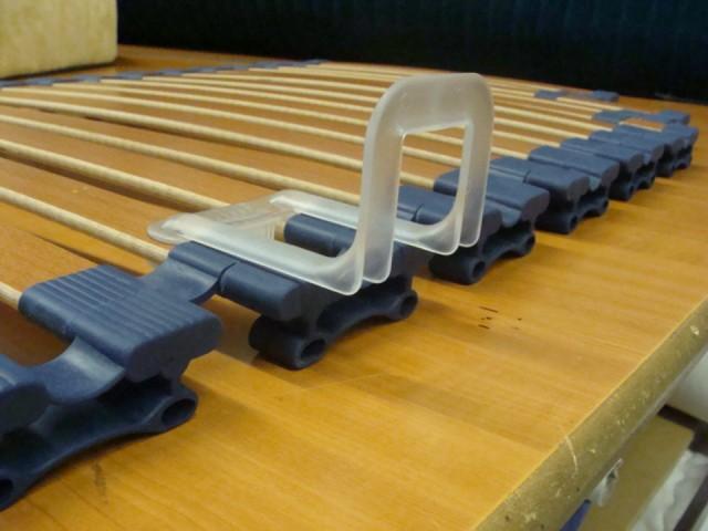 Lattenbodem Plastic Bedlijst, tegen het verschuiven van het matras.