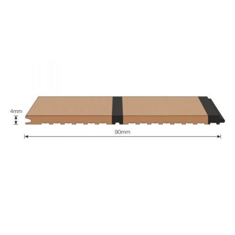 Isiteek 2x45mm Plank with Black Caulk